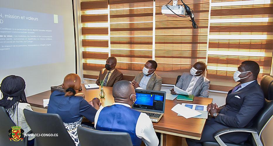 PRESENTATION DU PLAN D'ACTION STRATEGIQUE 2021-2026 DE L'ONG ACPED AU SECRETAIRE EXECUTIF DU CCJ